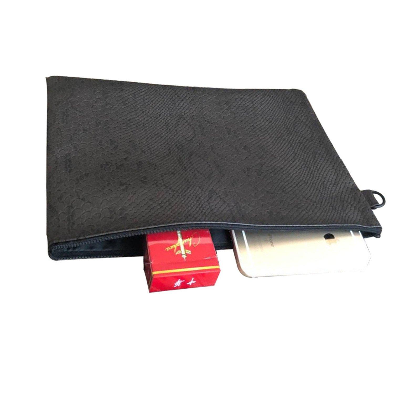 NENGWENWU Men fashion Snakeskin PU wallet men grab bag leisure business document bag