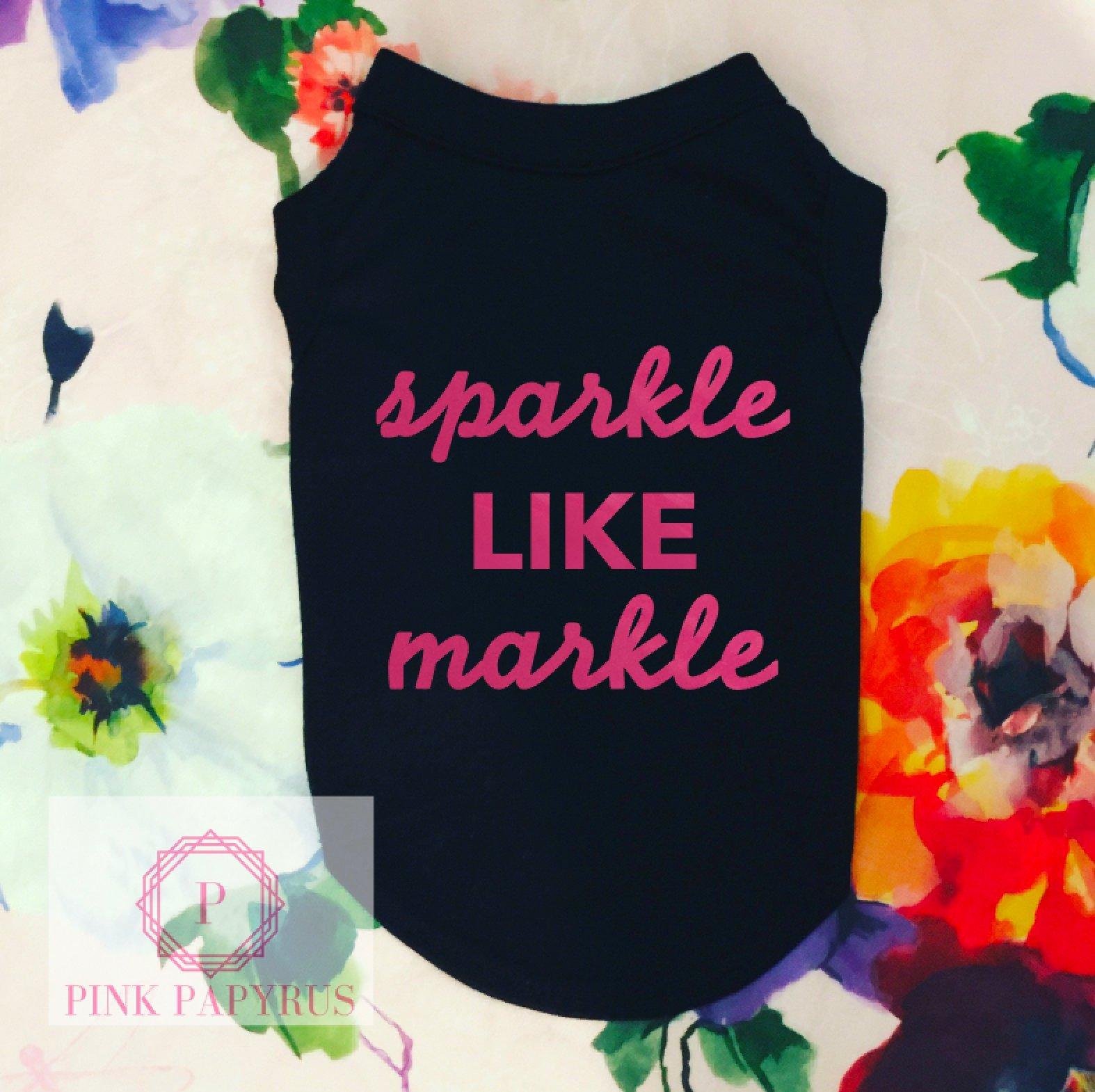 Sparkle Like Markle Dog Shirt