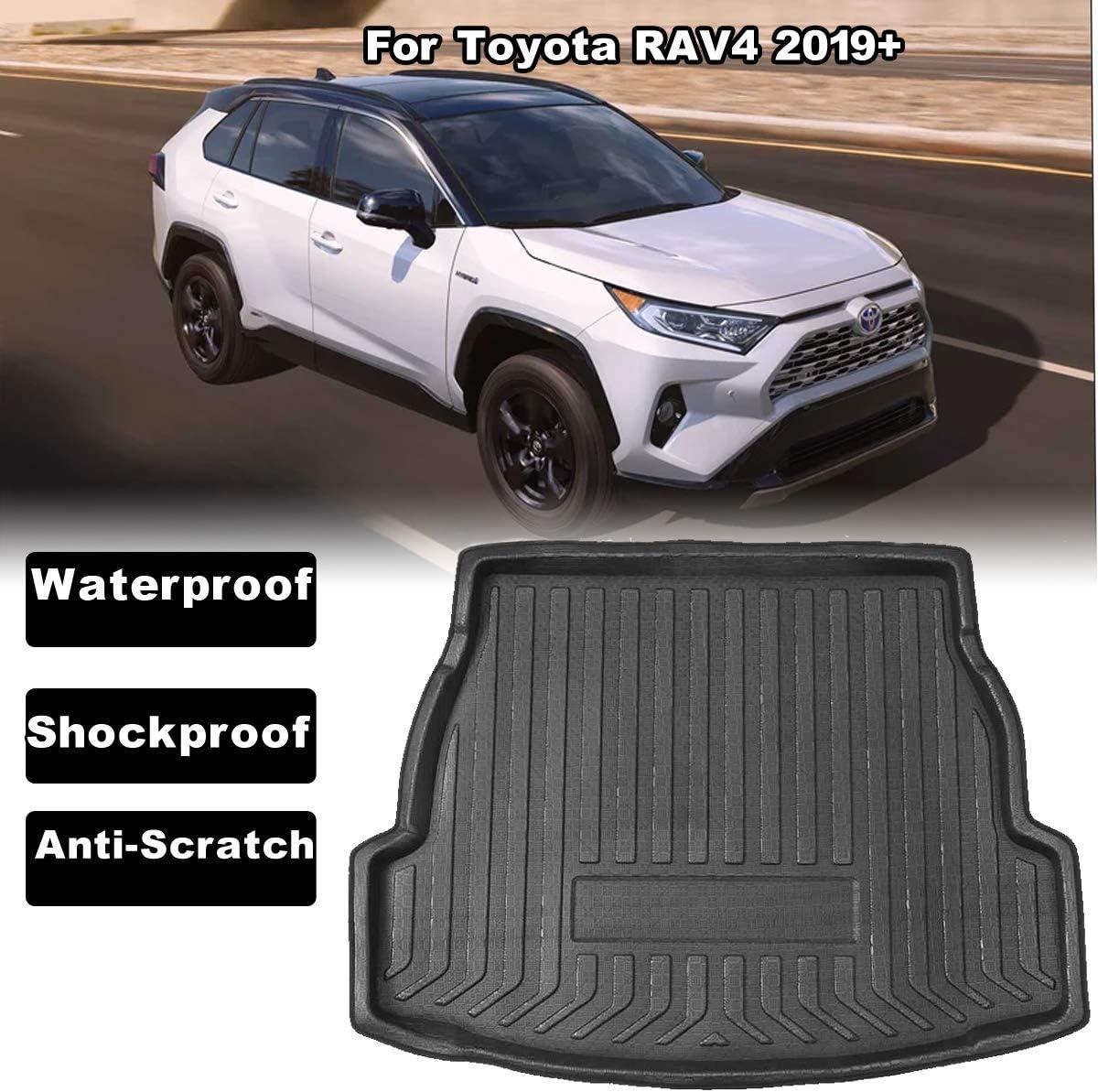 2006-2012 Los Tapetes de Goma Impermeables Brindan Protecci/óN contra Todo Clima Maletero Extrem//Alfombrilla para Maletero para La Modificaci/óN del Tronco del Toyota Rav4