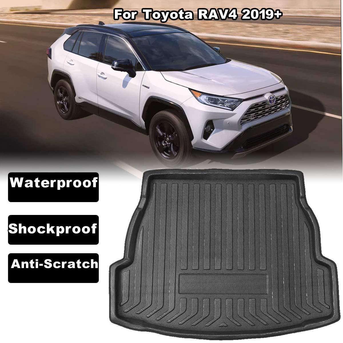 Car Boot Liner Boot Liner Cargo Mat Portapacchi Pavimento Tappeto Fango Protector Accessori Auto Sostituzione per Toyota RAV4 2019