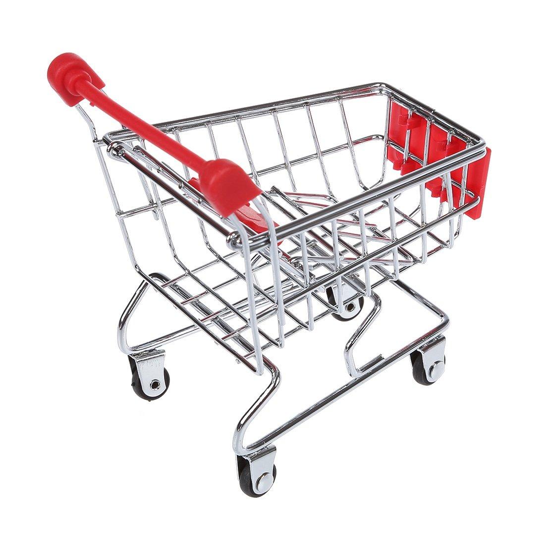 Rosso TOOGOO Mini supermercato Carrello della Spesa portapenne Criceto Bambini Giocattoli