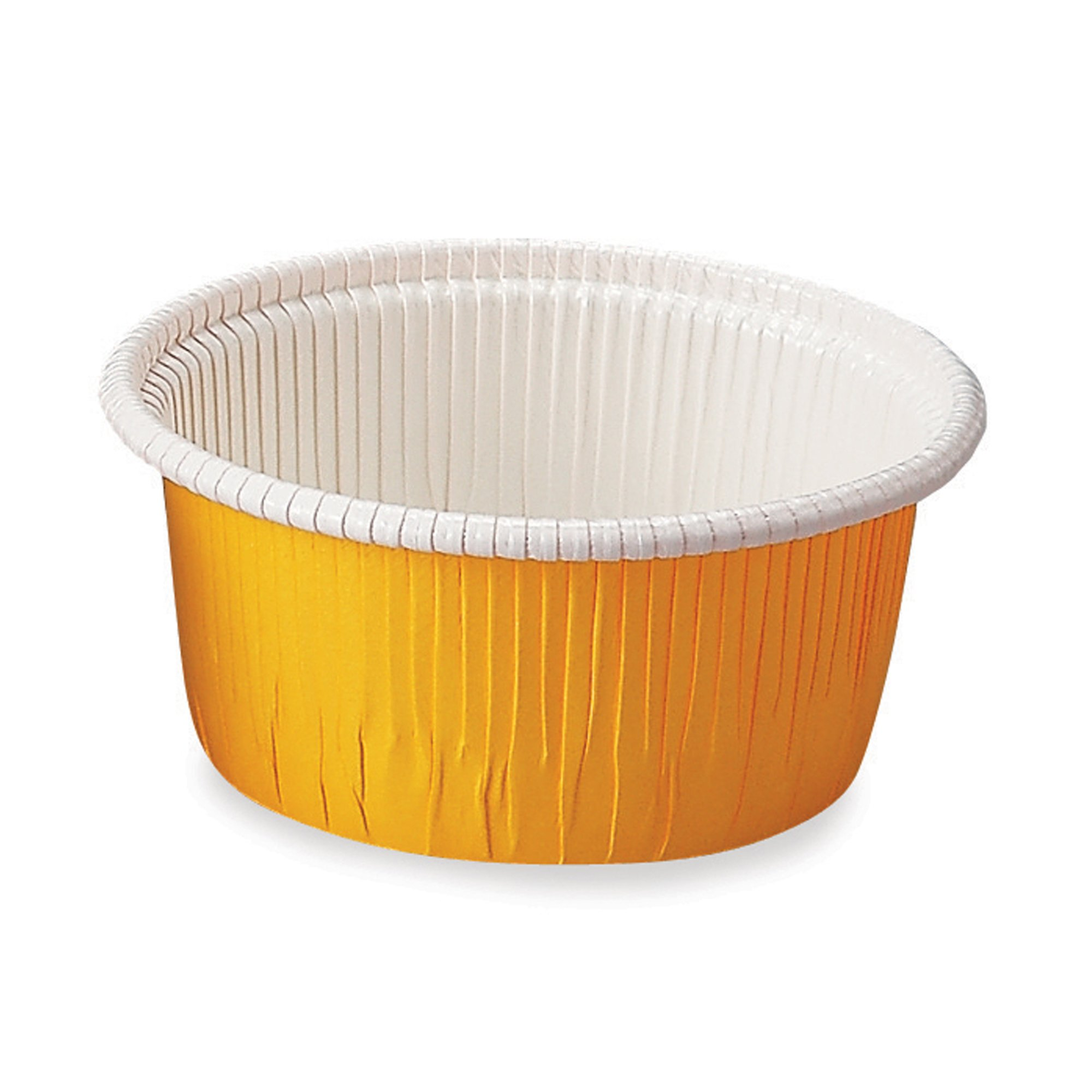 Welcome Home Brands Curled Baking Cups, Yellow Large, 2.8''d x 1.6''h, Case/2000