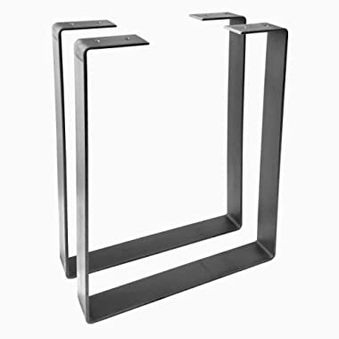 2 Pack - (1.5  Wide - 3/16  Thick Metal) (Size Range: 8-12 L x 8-24 H) U Shape Legs, Hairpin Legs, Coffee Table Legs, Furniture Legs, Bench Legs, Desk Legs, Industrial Modern, Home, DIY