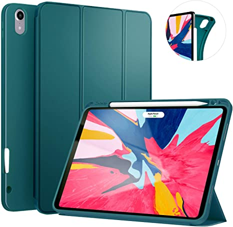 Protective Rugged Shockproof Case with Pencil Holder Support iPad Pencil Charging DarkGreen Ztotop Case for iPad Pro 11 Inch 2018 Auto Sleep//Wake for iPad Pro 11 2018