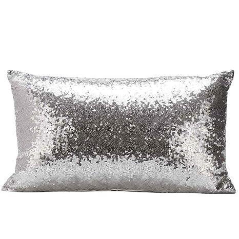 Honestyi Fundas para la decoración del hogar, para sofás, camas, con lentejuelas. Funda de almohada, funda de cojín, para decoraciones festivas, ...