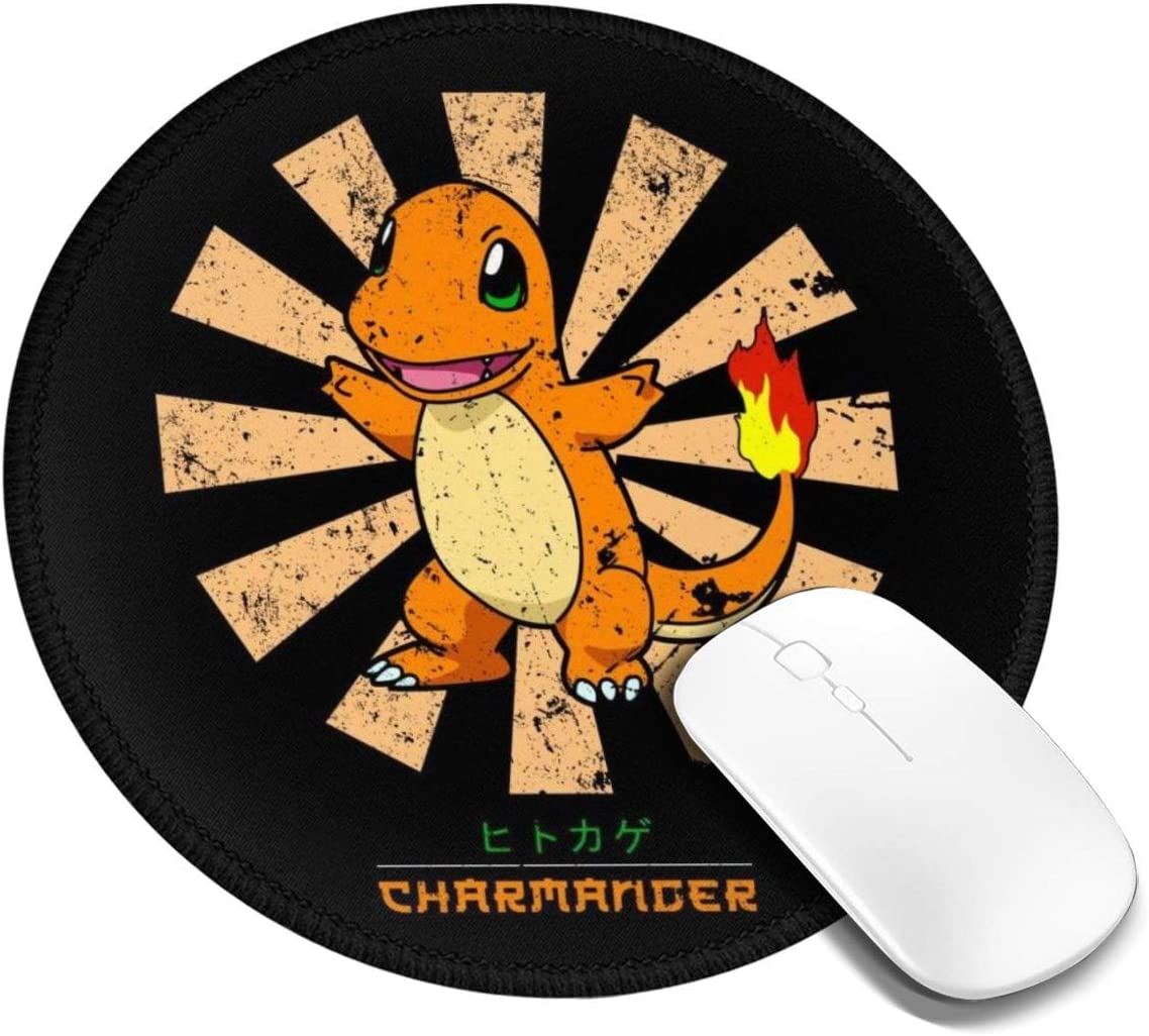 Charmander Retro Japanese Monster of The Pocket Customized Designs Non-Slip Rubber Base Gaming Mouse Pads for Mac,7.9x7.9 in, Pc, Computers. Ideal for Working Or Game