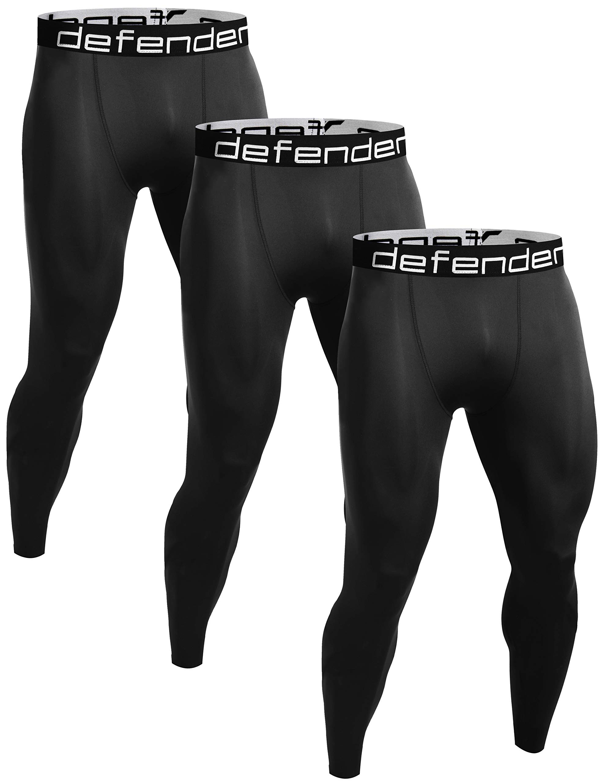 innovative design c5abc 24a48 Defender Men s Compression Baselayer Pants Legging Shorts Shirts Tights  Running
