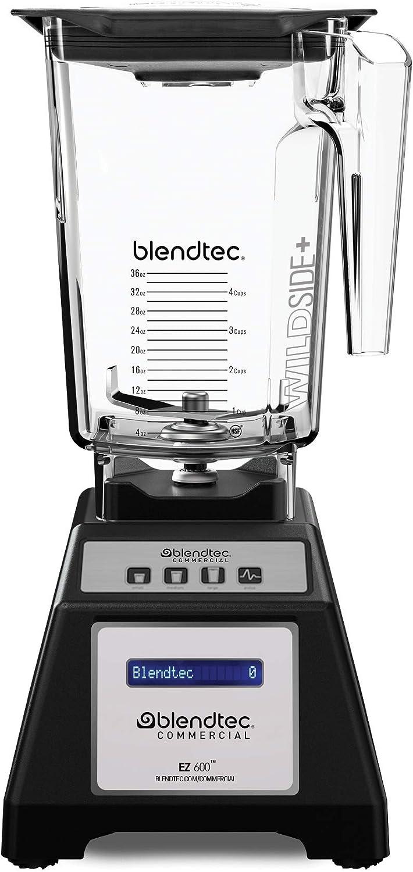 Blendtec E600A0801-A1GA1D EZ 600 WildSide+ Jar, Professional-Grade Blender Self-Cleaning, 3 Preprogrammed + Pulse Cycles, Customizable Presets, Black