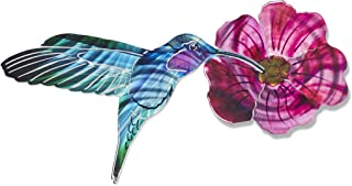 product image for 3D Metal Wall Art - Hummingbird and Flower Wall Decor - Handmade in the USA for Use Indoors or Outdoors