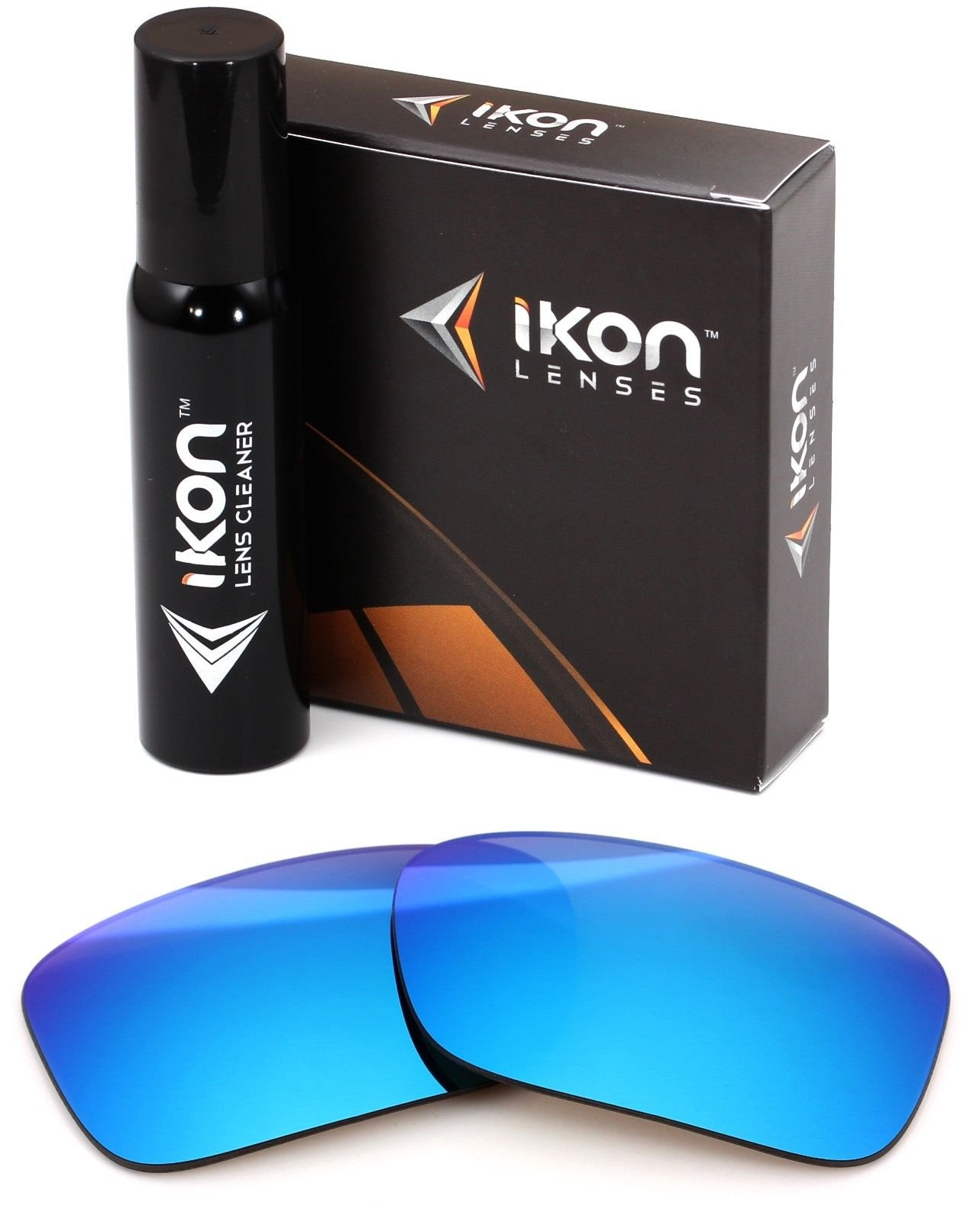 Polarized Ikon Iridium Replacement Lenses for Oakley Crankcase Sunglasses - Ice Mirror by Ikon Lenses