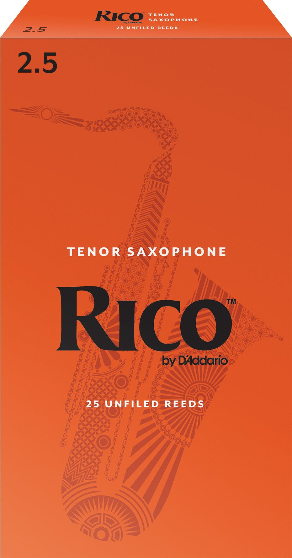 Rico by D'Addario Tenor Sax Reeds, Strength 2.5, 25-pack