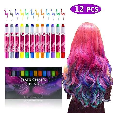 Fixget - Set di 12 gessetti per capelli ab435e1a1709