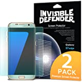 Galaxy S7 Edge Screen Protector, Invisible Defender [Full Coverage][2-Pack] Edge to Edge Curved Side Coverage Guaranteed [Case Compatible] Super Thin HD Clearness Film for Samsung Galaxy S7 Edge