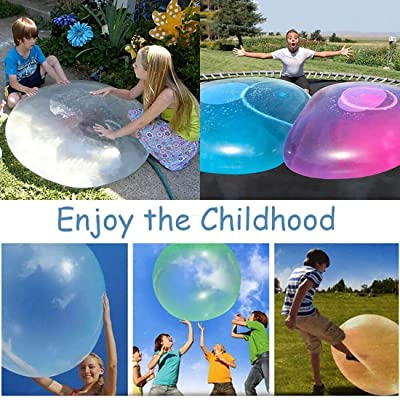 Vercico Kids Wubble Bubble Ball Toy 46.8'' Giant Inflatable Water Ball Soft Rubber Ball Jelly Balloon Balls for Kids Outdoor Party (Pink): Toys & Games