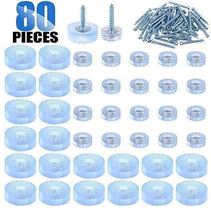 Glarks 40 almohadillas de goma antideslizantes de forma redonda ...