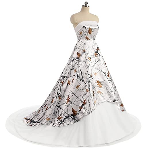 b44396b0db3c4 iLovewedding Realtree Camo Wedding Dresses Strapless A_Line Evening Formal  Gowns at Amazon Women's Clothing store: