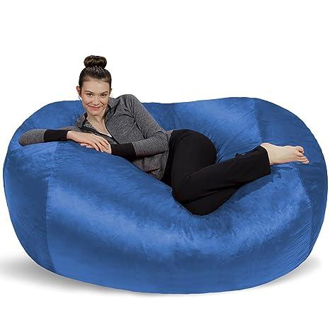 Amazon.com: Puf grande de 6 pies Sofa Sack Bean Bags, Tela ...