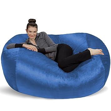 Sofa Sack Bean Bags 6 Pieds Chaise Longue Large Bleu Royal