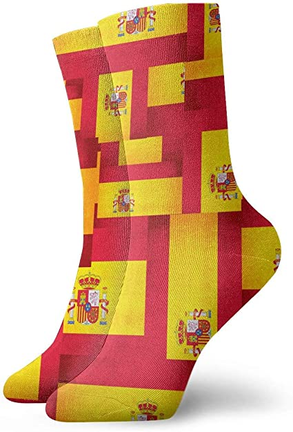 LarissaHi España bandera superposición tobillo calcetines casual divertido para deportes arranque senderismo correr etc.: Amazon.es: Ropa y accesorios
