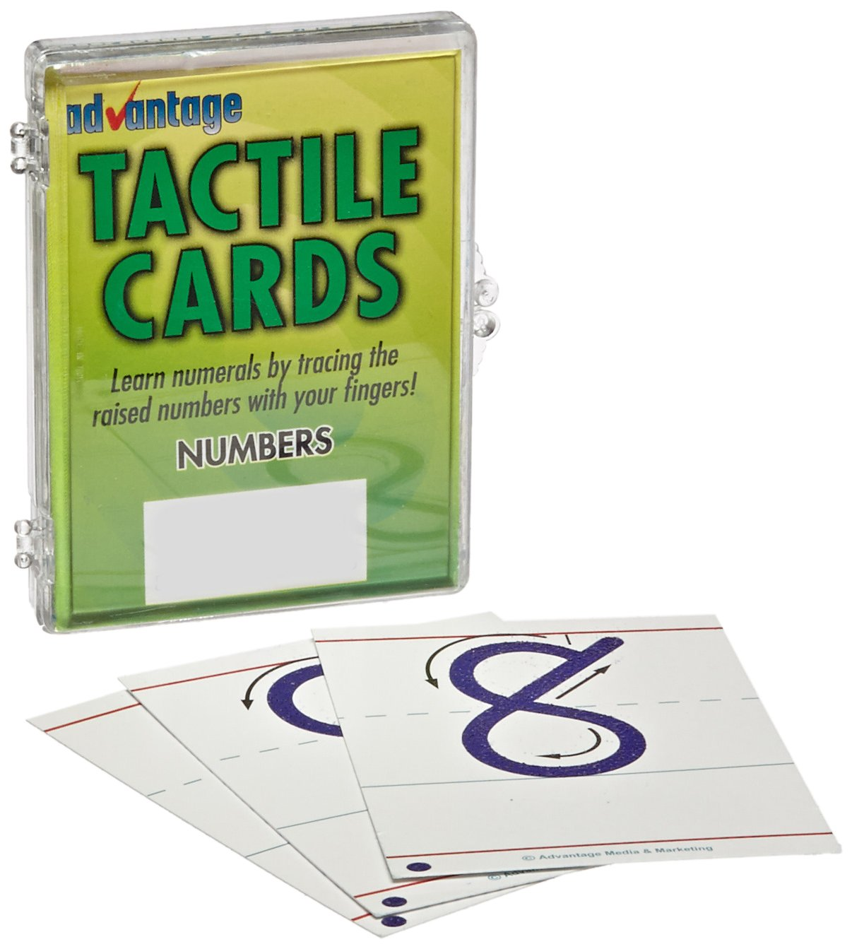 School Specialty Advantage Tactile Cards - Numbers