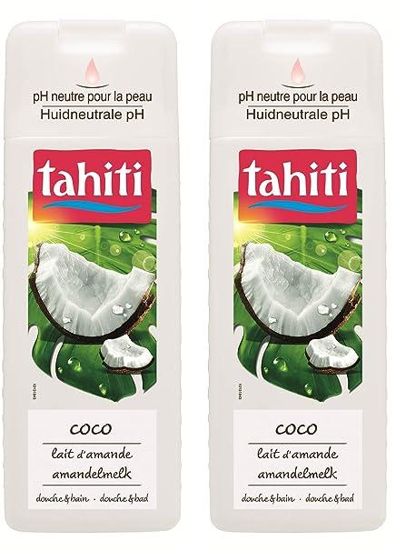 Tahiti ducha y baño Coco leche de almendras 400 ml – juego de 2