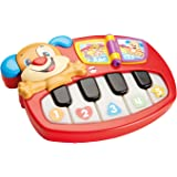 Fisher-Price Piano perrito para aprendizaje, juguete educativo bebé +6 meses (Mattel DLD24)