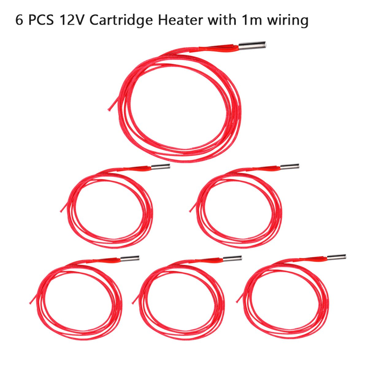 Unime 12v 40w 620 Ceramic Cartridge Heater And Ntc Wiring Diagram Thermistor 100k 3950 For 3d Printerpack Of 12pcs Electronics
