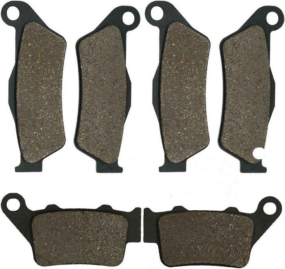 Cyleto Front and Rear Brake Pads for Kawasaki KL650 KL 650 KLR650 KLR 650 2008 2009 2010 2011 2012 2013 2014 2015
