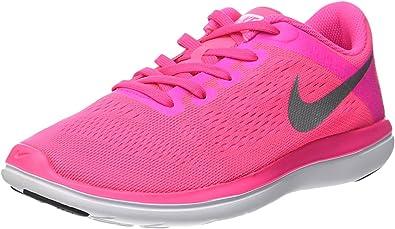 Nike Flex 2016 RN (GS), Zapatillas de Running Unisex Adulto, Rosa (Pink Blast/Metallic Silver-Black), 37 1/2 EU: Amazon.es: Zapatos y complementos