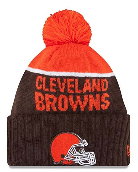 Amazon.com   New Era Knit Cleveland Browns Orange On Field Sideline ... 7f2ca720446