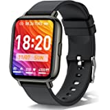 Smart Watch, 1.69 Inch Fitness Tracker with 24 Sports Modes, Blood Oxygen, Heart Rate Monitor and Sleep Tracking, Calorie Ste