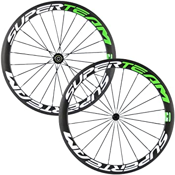Superteam Carbon Fiber Road Bike Wheels 700c Clincher