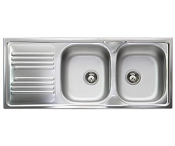 Lavello cucina incasso Apell Atmosfera acciaio Inox, cm ...