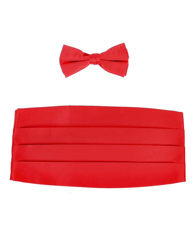 Amazon.com: Boy\'s Solid Poly Satin - Bow Tie and Cummerbund Sets ...