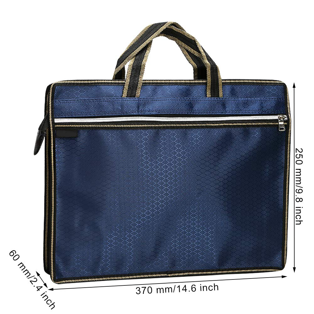 Business Document Bag for Files Folder Notebook iPad MyLifeUNIT Waterproof Document Holder