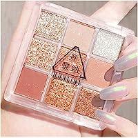 DIIIBARLORY 9 Colors Matte Eyeshadow Shimmer Glitter Eye Shadow Powder Palette Makeup Kit, Mini Eyeshadow Makeup Pallet…
