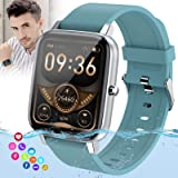 Burxoe Smart Watch, Bluetooth Smartwatch for Android Phones,Ip67 Waterproof Fitness Watch with Blood Pressure Heart Rate Moni
