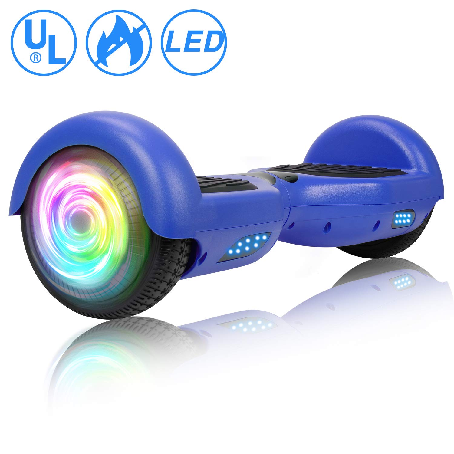 SISIGAD Hoverboard, Self Balancing Hoverboard, 6.5'' Two-Wheel Self Balancing Scooter, Smart Hover Board for Kids Gift, Adult Electric Scooter, with LED Lights and Free Carrying Bag UL2272 Certified by SISIGAD