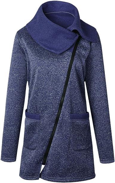 Pullover Bold Large Tops Veste Casual Hauts Eclair Sport Femme Fermeture Manner à Roulé Manteau Zip Col Capuche Hiver qSUpVGzM
