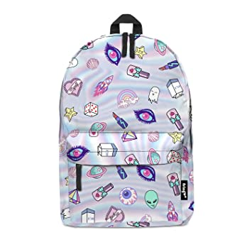 e468e46763ad Fringoo® Girls Boys Kids Backpack School Bag Rucksack Daypack Travel Hand  Luggage Emoji Hologram Bag