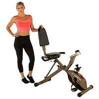 Exerpeutic Gold 525XLR - Vélo d'appartement allongé Pliable à résistance magnétique, Poids Maximum utilisateur de 181 kg