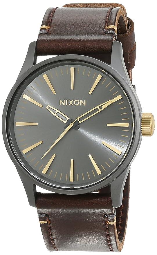 Nixon Reloj Analógico de Cuarzo para Mujer con Correa de Cuero – A377595-00
