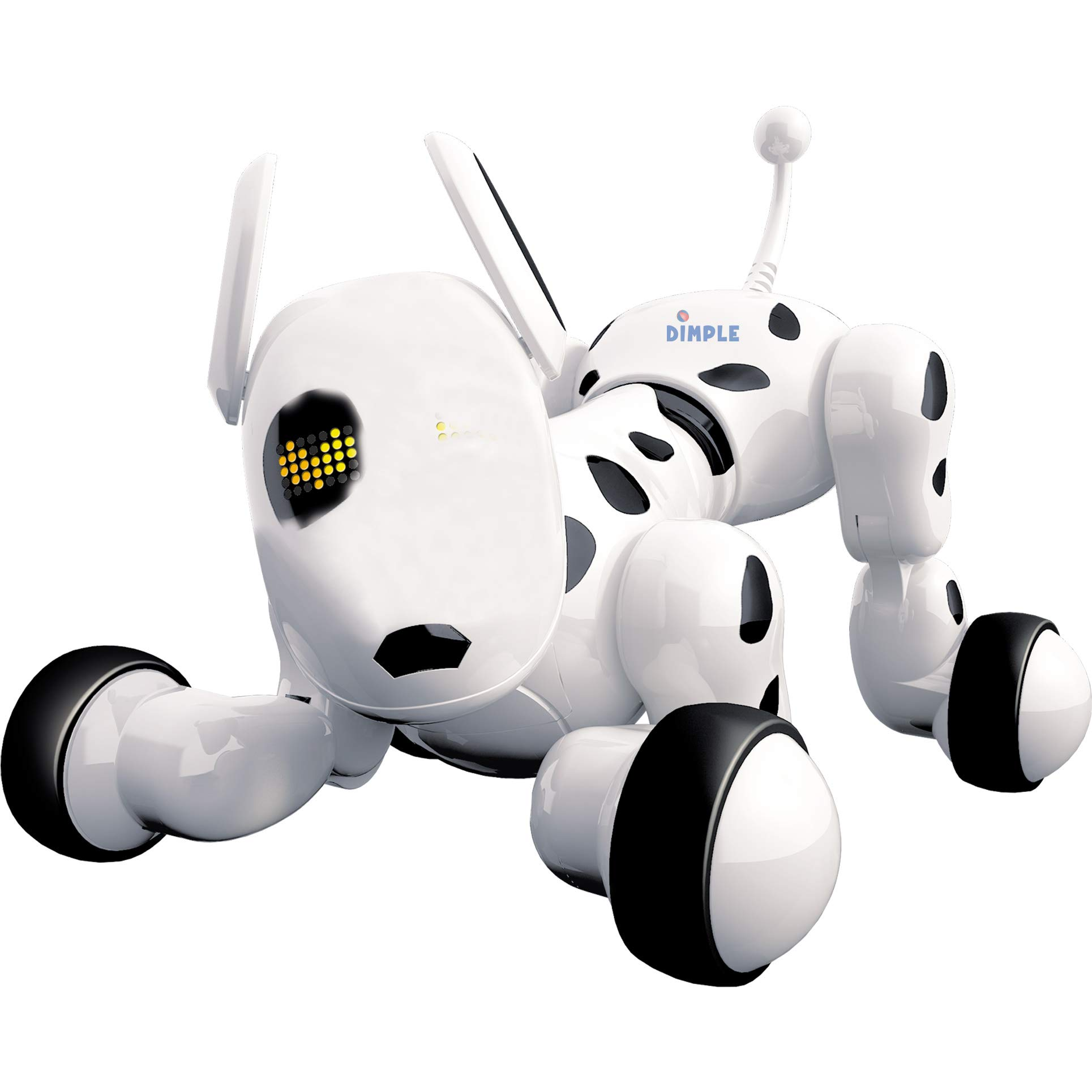 Dimple Interactive Robot Puppy With Wireless Remote Control RC Animal Dog Toy That Sings, Dances, Eye Mode, Speaks for Boys/Girls, Perfect Gift for Kids. by Dimple (Image #2)