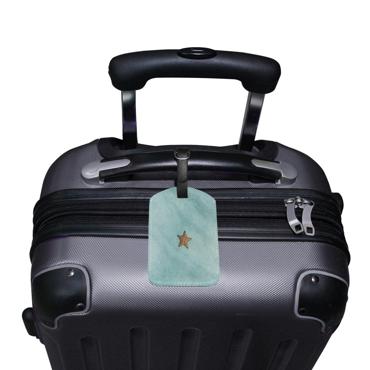 1Pcs Saobao Travel Luggage Tag Stars Blue Area PU Leather Baggage Suitcase Travel ID Bag Tag