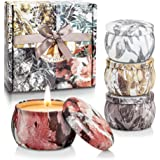 Yinuo Candle Scented Candles Gifts Set for Women,100% Soy Wax Portable Tin Candles for Bath Yoga Thanksgiving Gifts Set for M