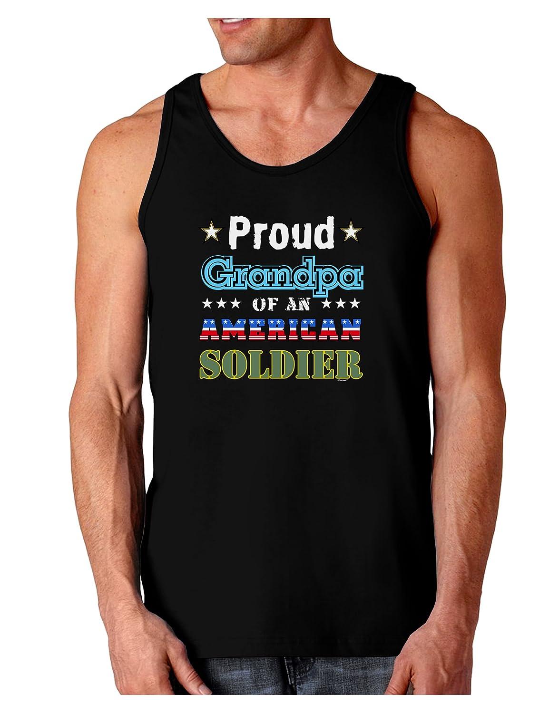 Proud Grandpa of an American Soldier Dark Loose Tank Top