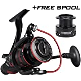 KastKing Sharky Baitfeeder III Spinning Reel 10 + 1 blindé en acier inoxydable BB - Carbon Fiber Drag for Live Liner Bait Fishing Action