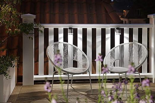 LED LOVERS Applique Solar LED para Paredes Exteriores, Juego de 2, Foco Impermeable de Exterior, Lampáras de Jardín, Patio, Pared, Batería 0.5 W: Amazon.es: Jardín