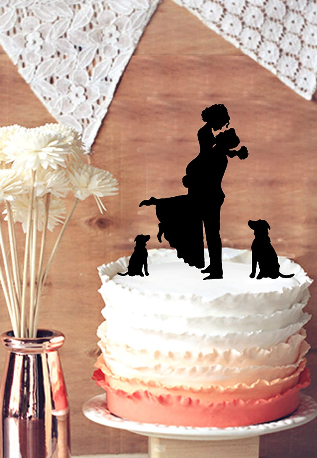 buythrow unique wedding cake topper and groom