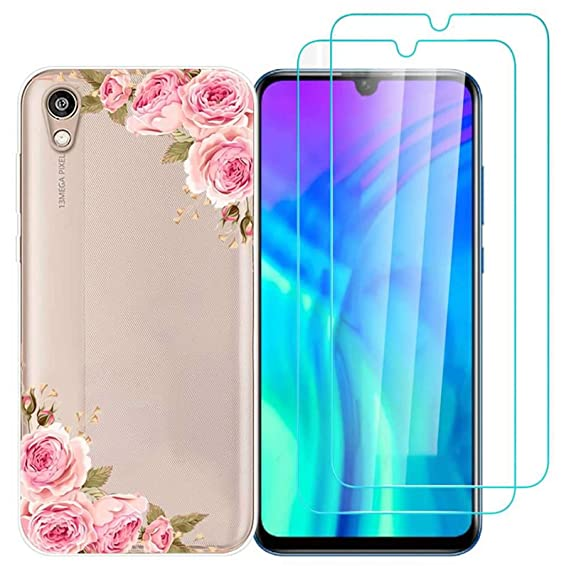 Amazon com: Huawei Y5 2019 Case with 2 Pack Glass Screen